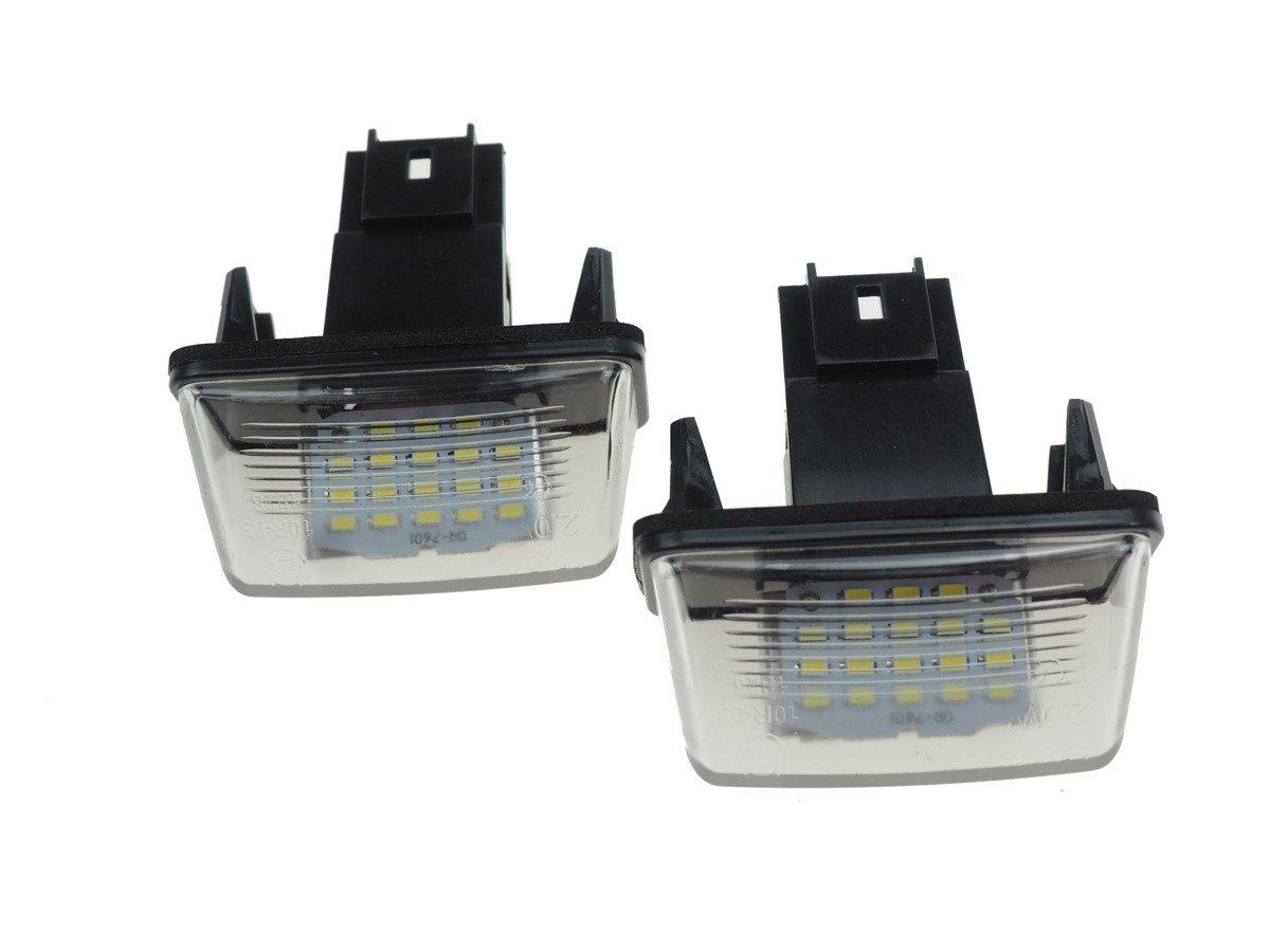 Citroen C2 C3 C5 C6 C8 Lampki Led Podświetlenie Rejestracji